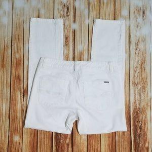 👖White House Black Market Blanc Slim Ankle Jeans